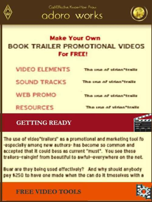 Product picture Make Book Promo Videos  FOR FREE